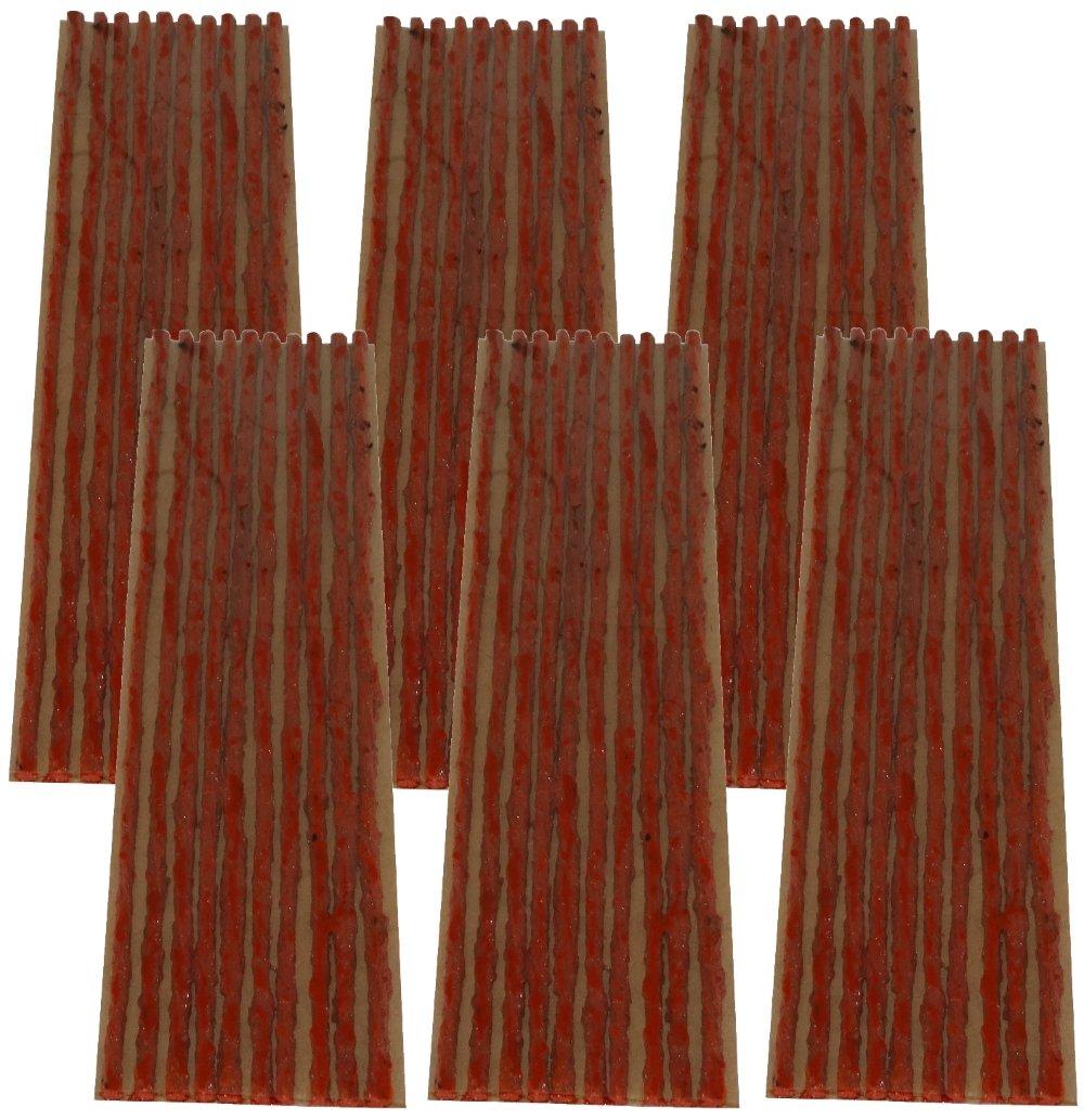 AERZETIX: Lot de 60 mè ches 4mm 20cm Marron pour kit de ré paration de Pneu C40656 C40656x60F-6L