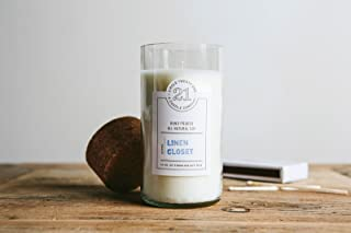 product image for Circle 21 Candles Linen Closet Scented Soy Candle, Clear