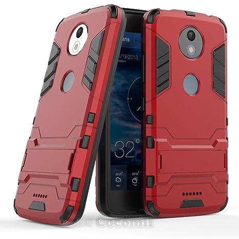 Cocomii Iron Man Armor Motorola Moto C Plus Funda [Robusto] Superior Táctico Sujeción Soporte