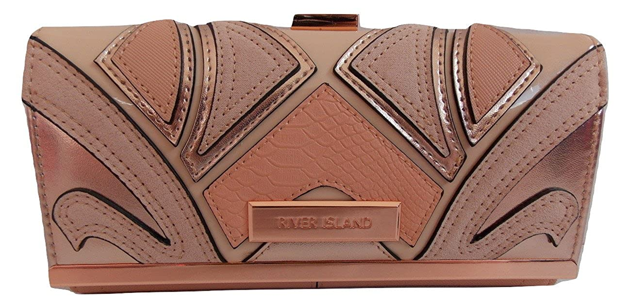 River Island Ladies Coral Cutabout Clip Top Purse