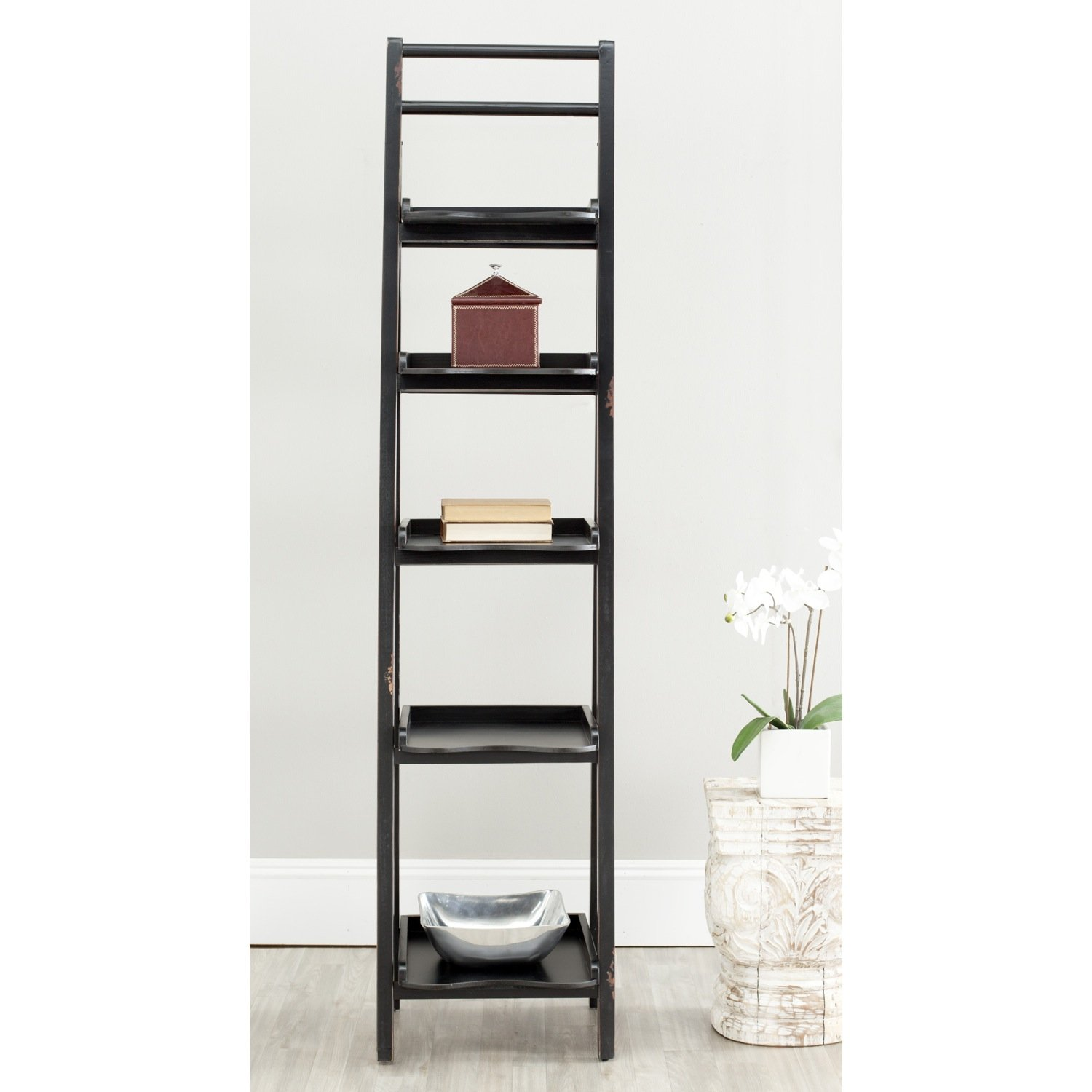 Amazon Com Safavieh American Homes Collection Asher Leaning  # Etagere Salon Tv