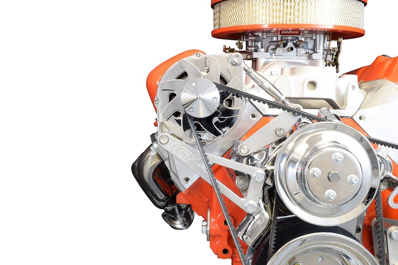 BBC Billet Alternator Bracket Adjustable LWP Big Block Chevy Long Pump Kit Aluminum 551663 ICT Billet