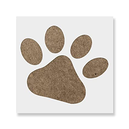 amazon com dog paw stencil template reusable stencil with