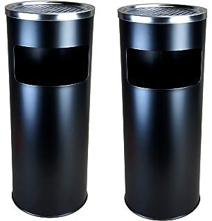 2x Standaschenbecher Abfalleimer Mülleimer Standascher 30 L Aschenbecher Rund