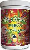 Vital BodyGlo - Organic Green Superfood Drink Powder Mix - Multi Vitamin, Probiotics & Prebiotics, Digestive Enzymes, Raw, Vegan, Essential Nutrients, Mineral, Gluten Free, Dairy Free, Taste Great