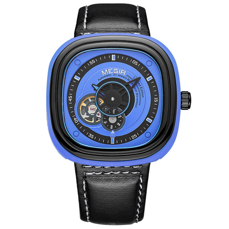 アウトドアハイキング登山時計スポーツクォーツ時計スマートウォッチ30メートル防水ブレスレット表示時間/分ストップウォッチマルチカラーオプション (色 : 青)  青 B07P9YN8KJ