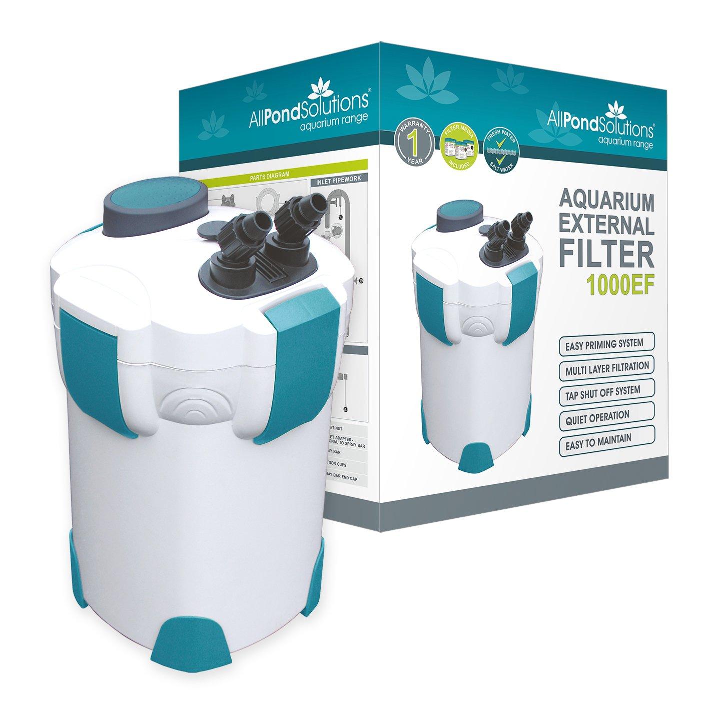 All Pond Solutions 1000EF Aquarium External Filter 1000 Litre Hour