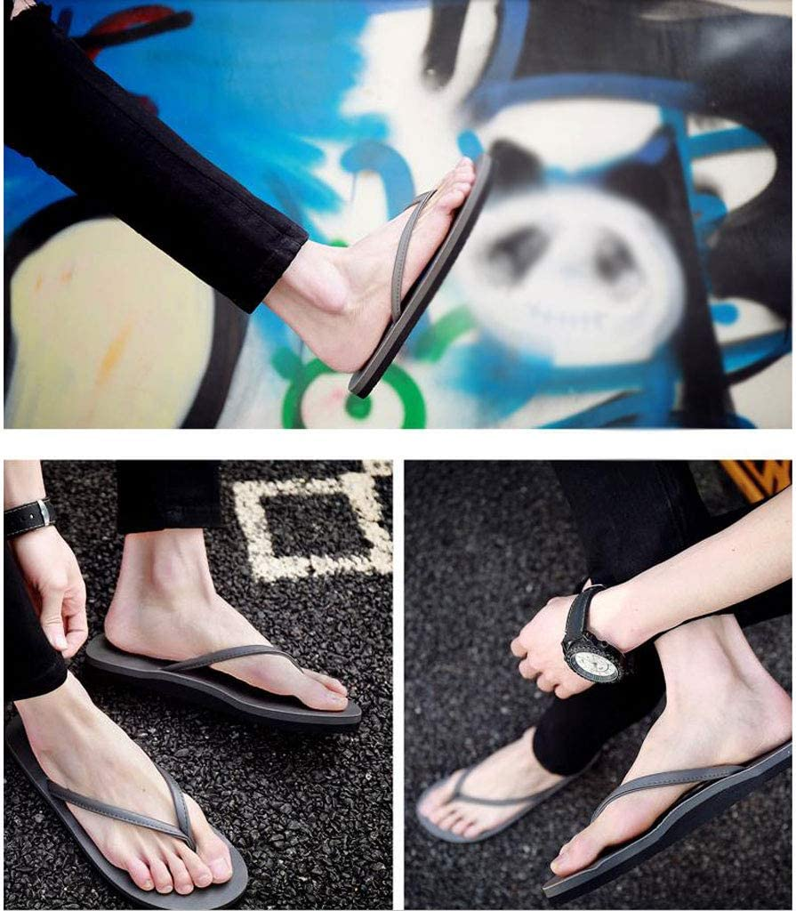 Flip Flops HUYP Grey Slippers Sandals Boys Simple Men and Women Couple Girls Fashion Size : 9 US