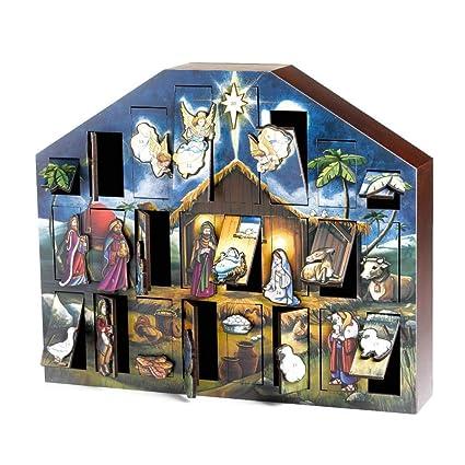 Amazon Com Byers Choice Nativity Advent Calendar Ac05 Home Kitchen