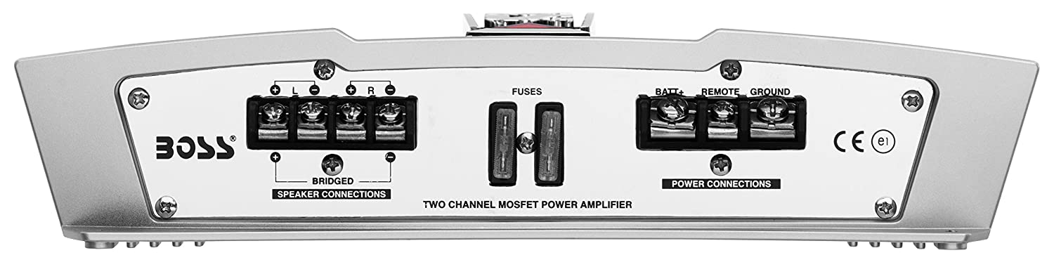 BOSS AUDIO CH2502 CHAOS 2500-Watt Full Range Class A//B 2 to 8 Ohm Stable 2 Channel Amplifier with Remote Subwoofer Level Control Boss Audio Systems Inc.