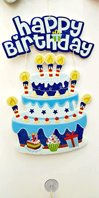 Buy 3D Foam Happy Birthday Cake Design Wall Hanging For Decoration
