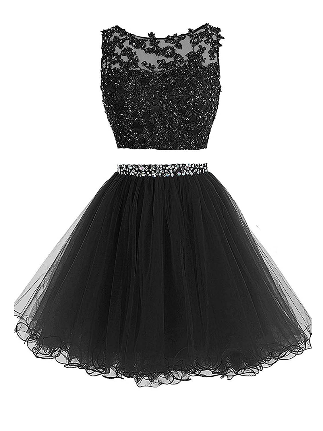 ea47522b7d0 Sweetylife Short Prom Party Dress Graduation Homecoming Dress with Lace  Applique Beaded and Sequins Above Knee Length N002 at Amazon Women s  Clothing store