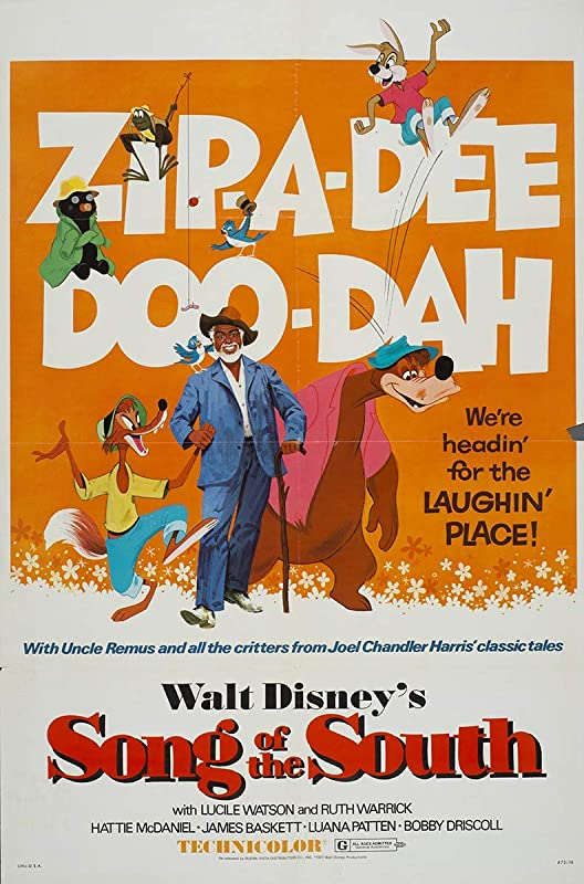 "Vintage Disney /""Song of the South/"" Movie Poster Available in 5 Sizes"