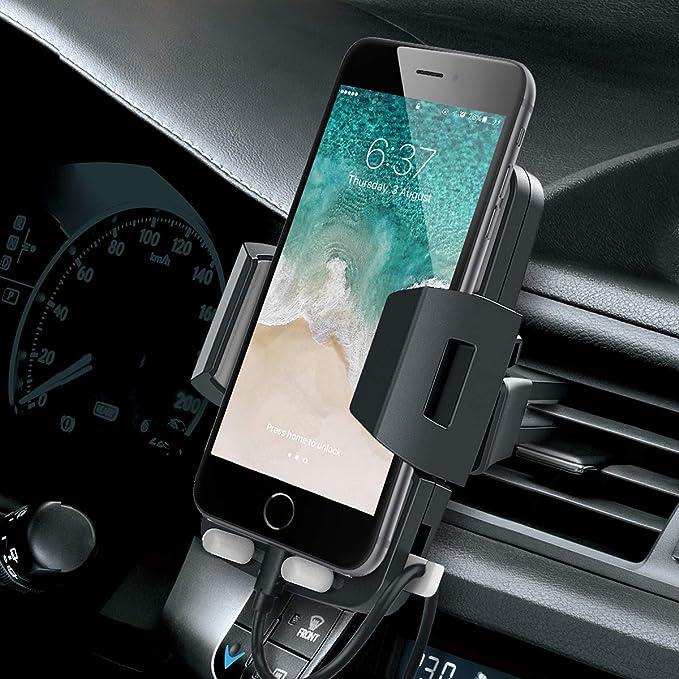 Avolare Handyhalterung Auto Lüftung Handyhalter Fürs Auto Kfz Lüftung Halter 360 Grad Drehbar Für Iphone 11 Pro Xs Max Xr X 8 7 6 Samsung S10 S9 S8 S7 S6 Huawei Andere Smartphone Elektronik
