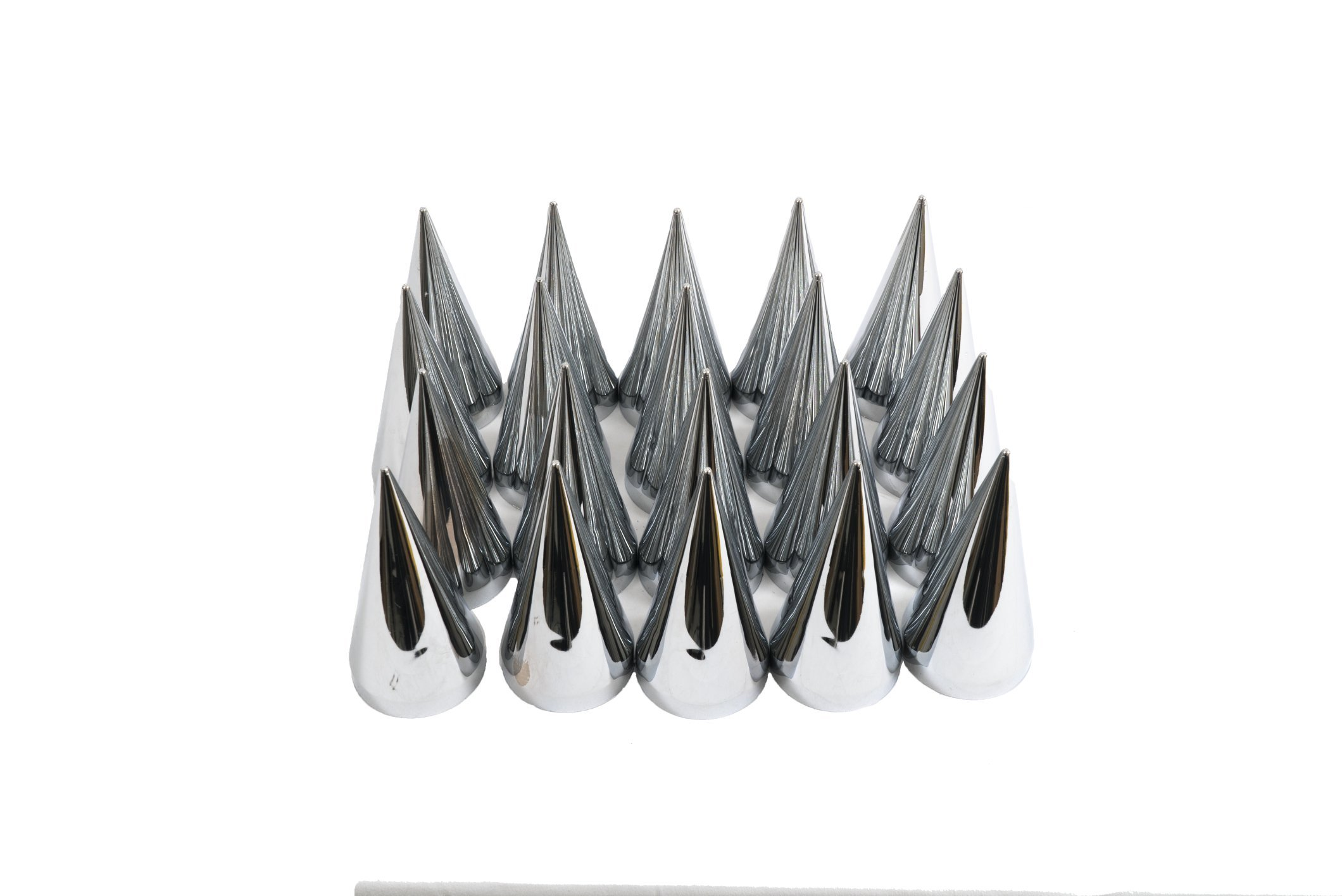 Diesel Laptops 20 Pack of 33mm x 4-1/2'' Chrome Spear Spike Style Push on Nut Cover for Commercial Heavy Semi Trucks with 12-month Membership to TruckFaultCodes by Diesel Laptops (Image #3)