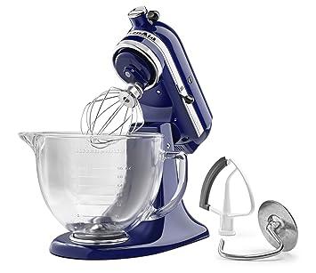 KitchenAid KSM105GBCBU 5 Qt. Tilt Head Stand Mixer With Glass Bowl And Flex