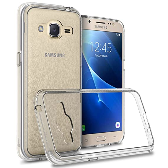 buy online b3551 875f5 Amazon.com: Galaxy J2 Clear Case (2016), CoverON [ClearGuard Series ...