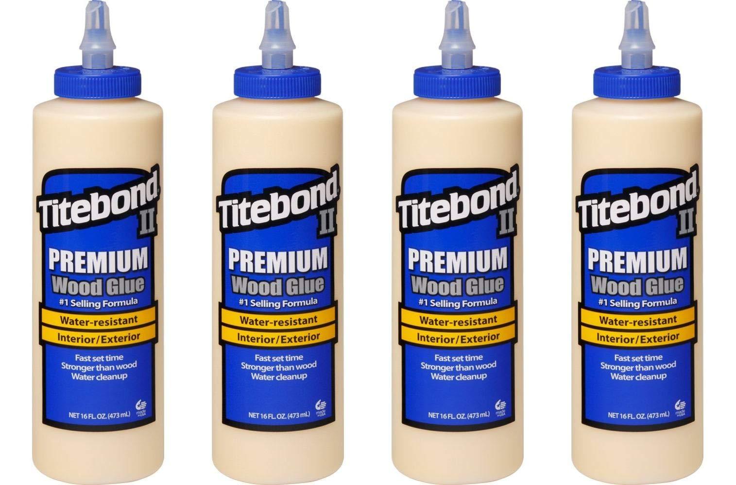 Titebond 5004 II Premium Wood Glue, 16-Ounces (Fоur Paсk, Honey Cream)