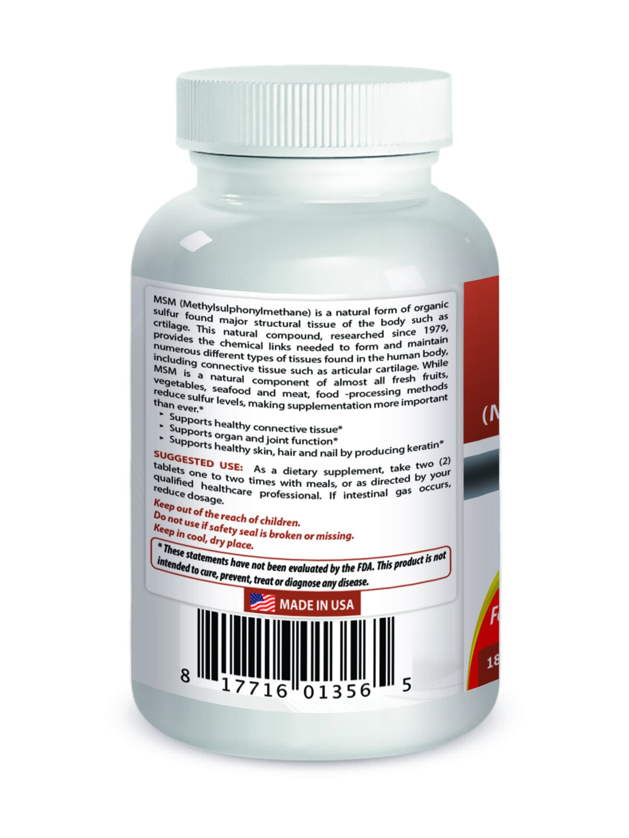 Best Naturals MSM 1500 mg 180 Tablets by Best Naturals (Image #2)