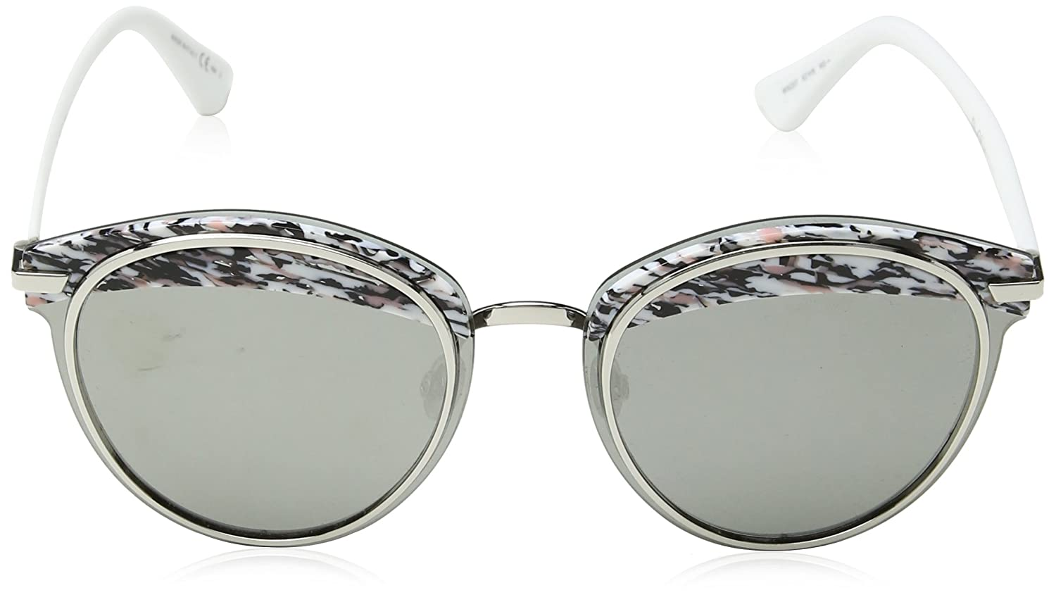 d639cff7542 Amazon.com  Christian Dior Offset1 W6Q White Grey Offset1 Round Sunglasses  Lens Category 3  Christian Dior  Clothing
