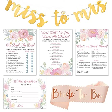 floral bridal shower games bundle set of 4 party games 50 sheets each
