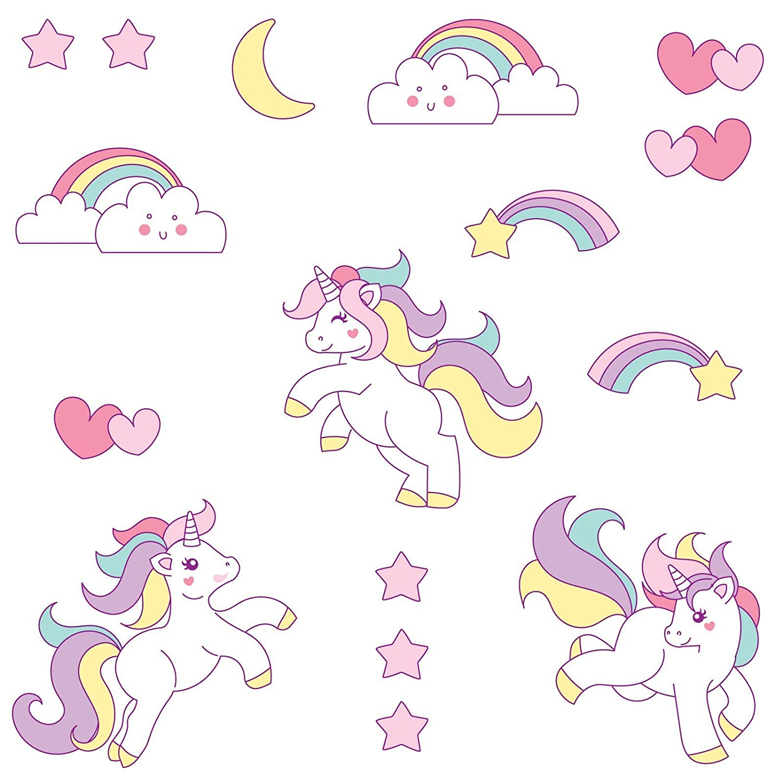 booizzi cute unicorn rainbow colour wall sticker set child bedroom booizzi cute unicorn rainbow colour wall sticker set child bedroom decor amazon co uk diy tools