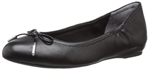 Rockport Women's Total Motion Hidden Wedge Tied Ballet Flat,Black Nappa,US  ...