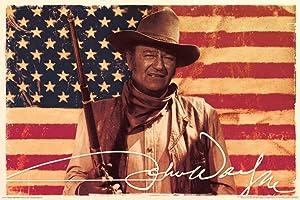 John Wayne- Flag Poster 36 x 24in