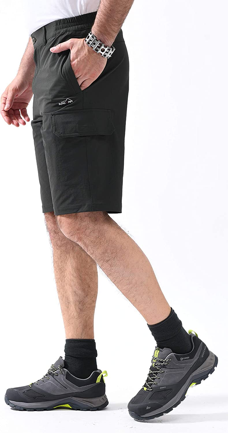 svacuam Mens Casual Outdoor Sports Quick Dry Hiking Shorts with Zipper Pockets