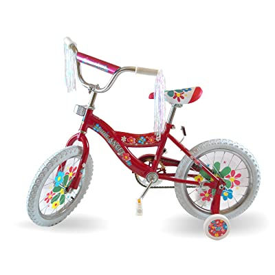 Little Angel Awesome Kids Flower 16-inch Girls Bike (Pink) : Childrens Bicycles : Sports & Outdoors
