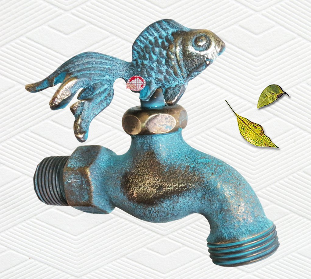 Amazon.com : Taiwan Decorative Solid Brass Goldfish Garden Outdoor ...