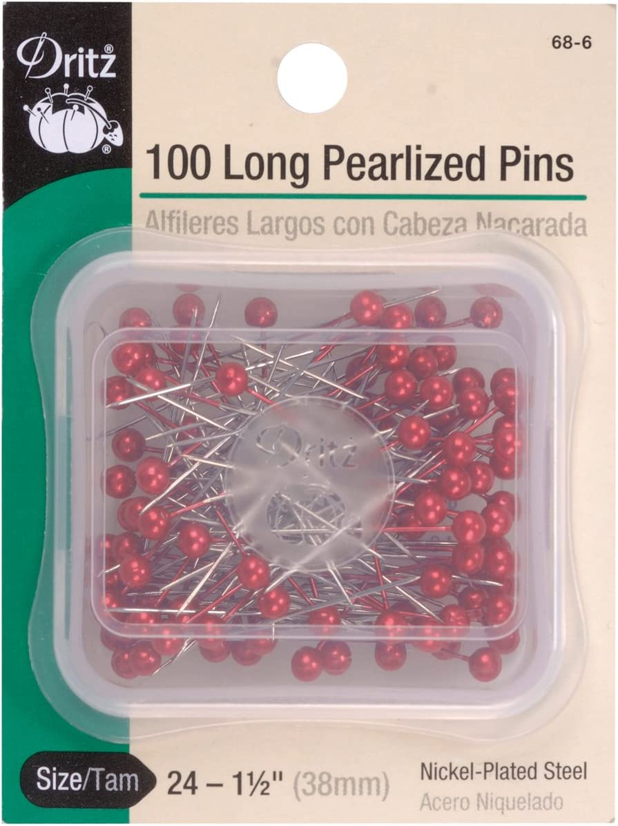 Dritz 63 Pearlized Pins 40-Count Long 1-1//2-Inch