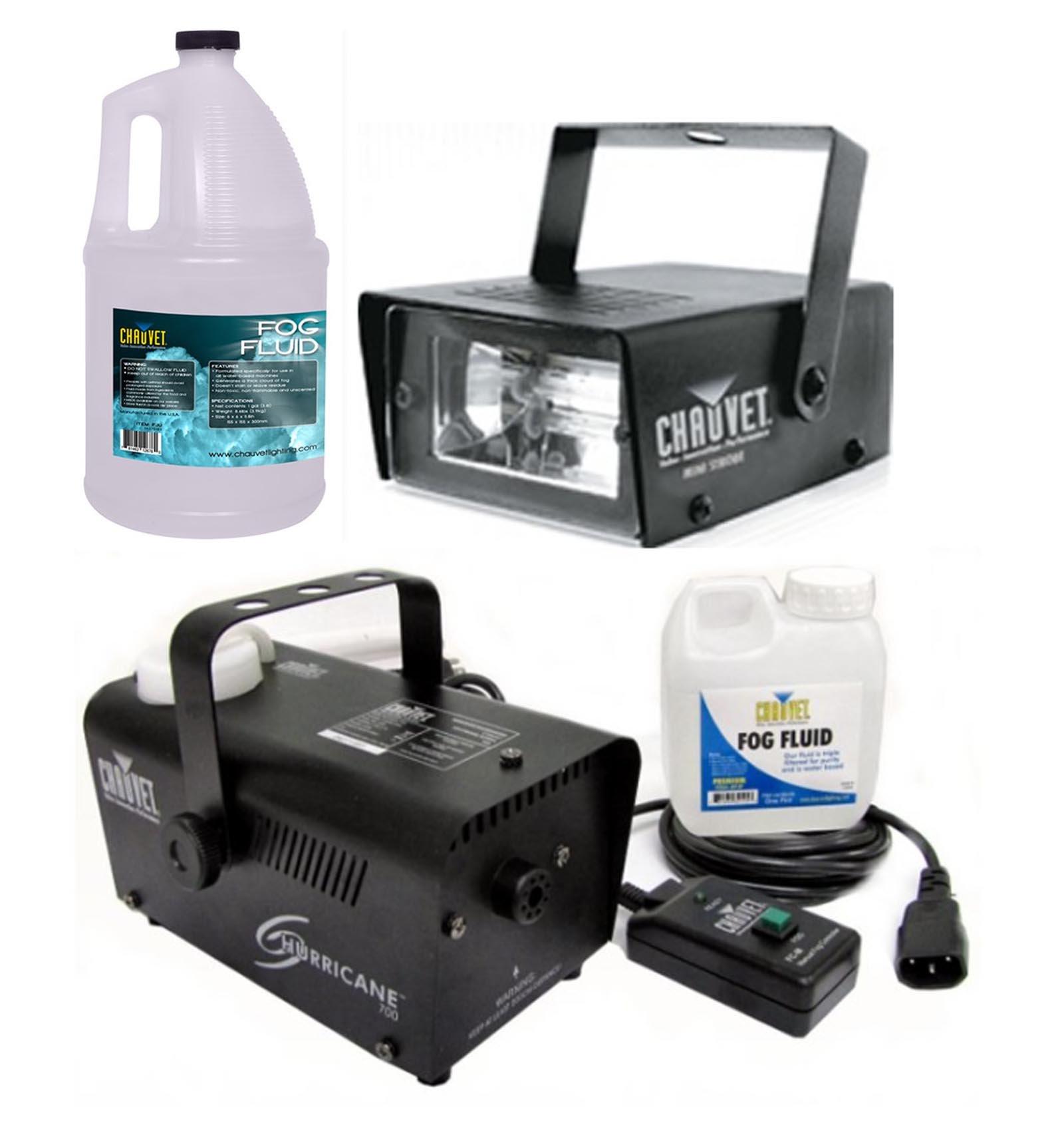 CHAUVET CH-730 Ministrobe Light + Hurrcane 700 H-700 Fog Machine + FJU Fog Fluid by CHAUVET DJ (Image #1)