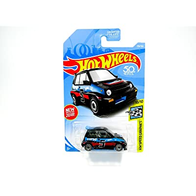 Hot Wheels 2020 50th Anniversary HW Speed Graphics '85 Honda City Turbo II 190/365, Black: Toys & Games