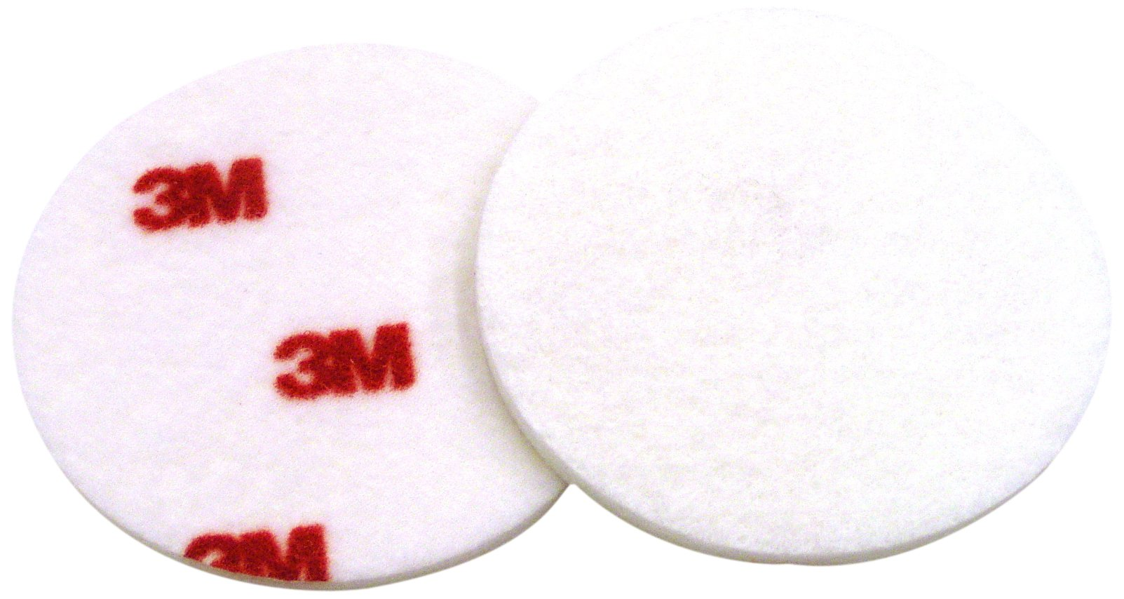 3M Finesse-it Buffing Pad 09357, Hook and Loop Attachment, 3'' Diameter, Red/White (Pack of 500)