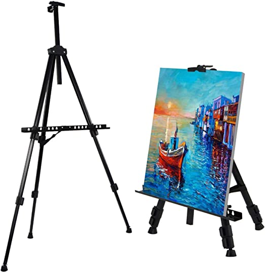 Color : Black, Size : S Easel Adjustable Iron Art Sketch Display Easel Stand for Artist Art Tools Folding Easels Floor Stand Poster Frame Wedding Easel