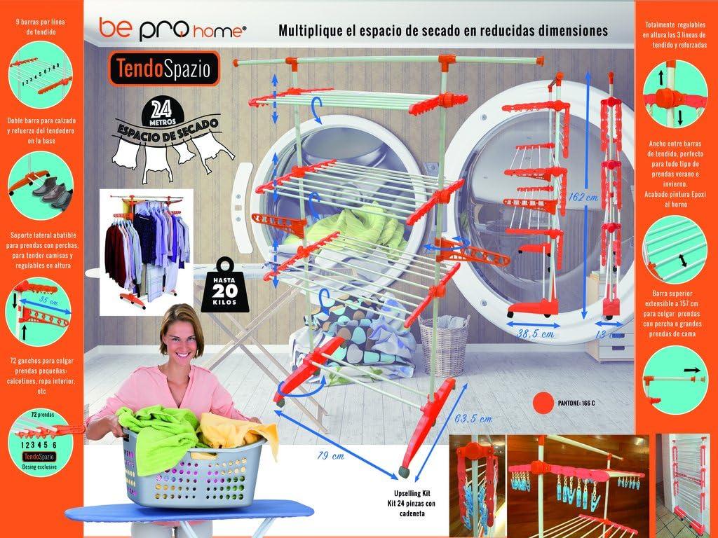TENDEDERO TENDO SPAZIO Be Pro Home 6 ruedas plegable plastico ABS de mejor calidad