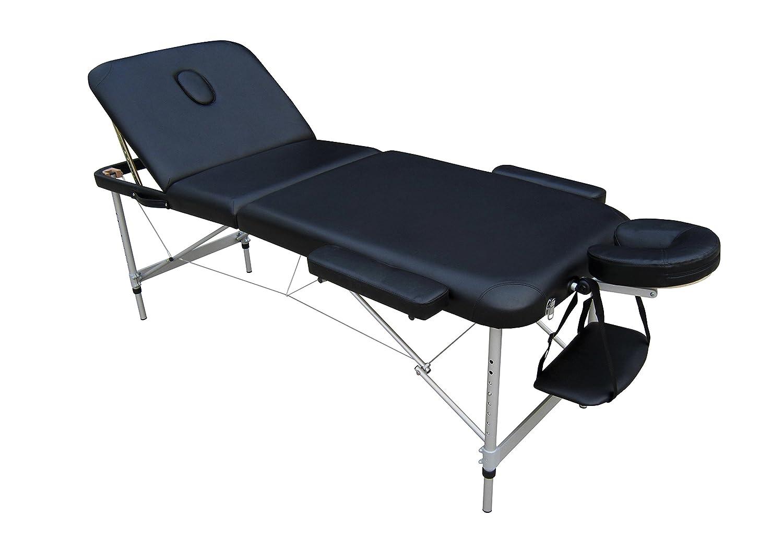 EUROPA Camilla mesa de aluminio ligera portátil para masajes estética tattoo