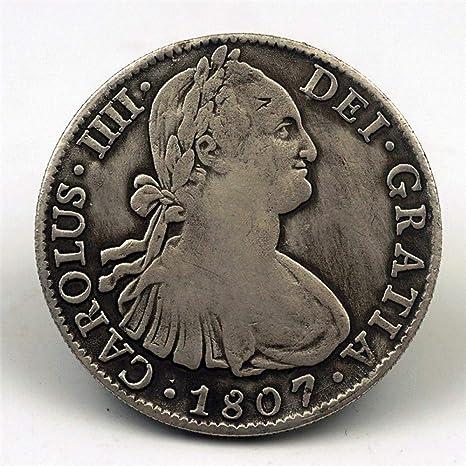 JJZHY Moneda Conmemorativa de la Moneda Antigua del Dólar de Plata de España 1807 Moneda Conmemorativa de la Moneda Conmemorativa de Carlos IV,Moneda conmemor,Un tamaño: Amazon.es: Deportes y aire libre