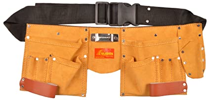 Globus Leather Tool Apron (18.5x7-inches, Brown and Black)