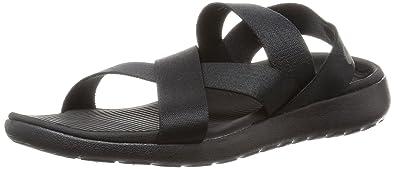 acheter en ligne 9a1cf 94c6b Nike W Roshe One Sandal, Sandales de Marche pour Femme Noir ...