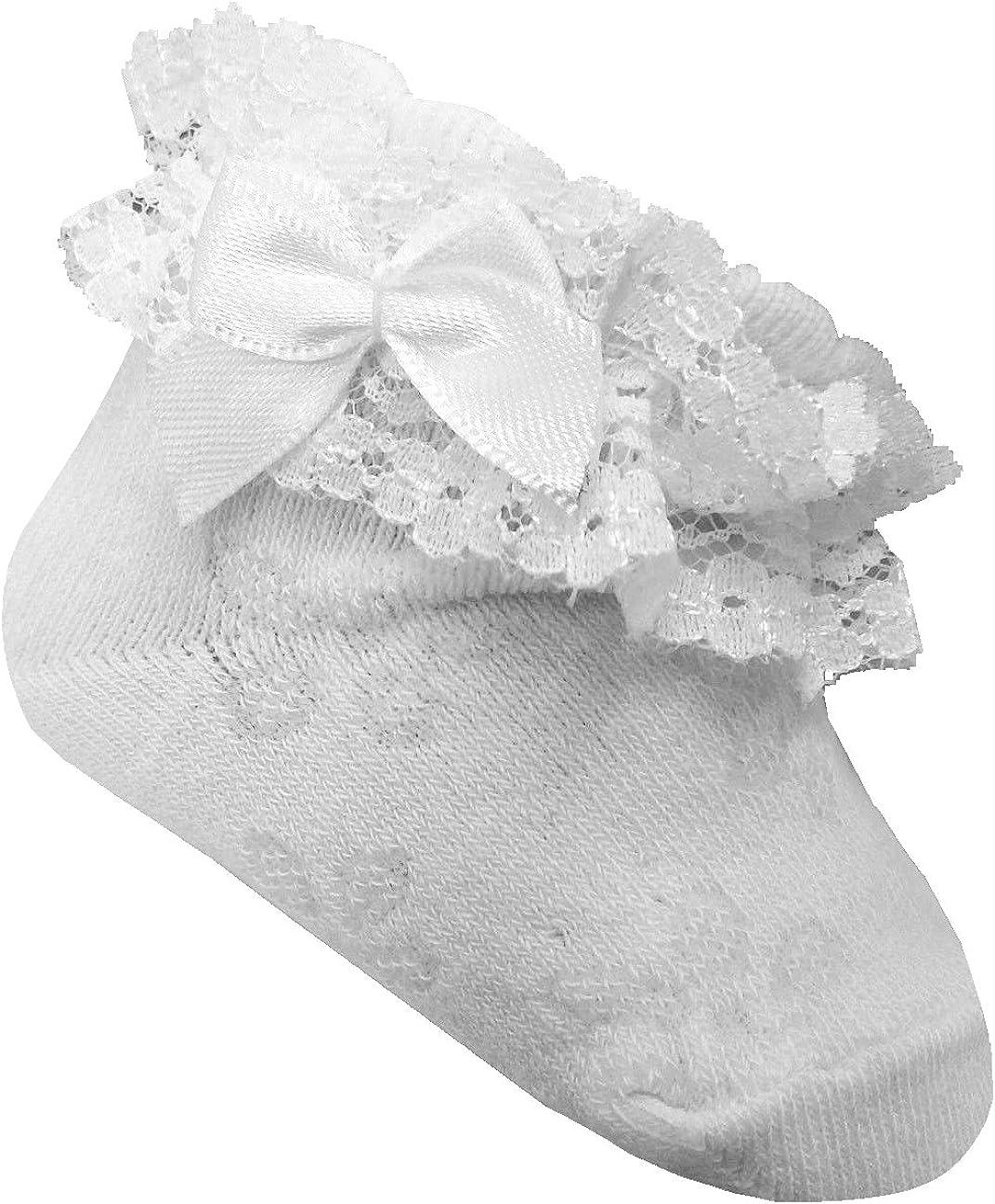 Brand Baby Socken Sockchen mit Spitze Taufe M/ädchen