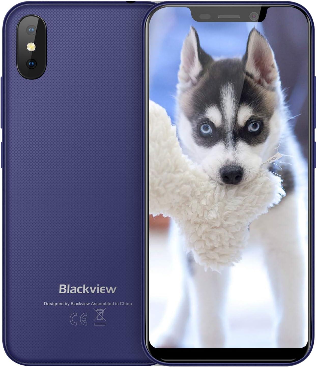 Blackview A30 Telefonos Moviles Smartphone Baratos Dual SIM 5.5 Pulgadas(19: 9) FHD Android 8.1 Desbloqueo Teléfono, 5MP+8MP Cámaras 16GB ROM Face ID 3G Blackview Phone Azul: Amazon.es: Electrónica