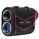 Double Eagles DEPRO-800 Golf Rangefinder - Laser Range Finder with Pinsensor - Laser Binoculars - Free Battery - Water Proof