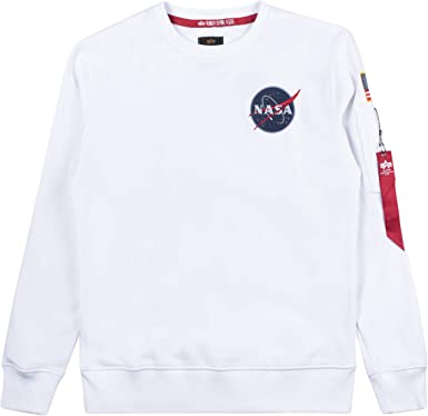 Alpha Industries Felpa NASA Tape SWEATER BLACK-SWEAT