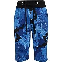 Kids Shorts Girls Boys Camouflage Chino Shorts Knee Length Half Pant 5-13 Years
