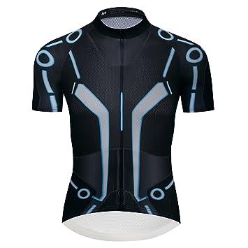 8f55dfebc4e logas Maillot de Vélo Homme Vêtement VTT Manche Courte Tée Shirt Cycliste  Été