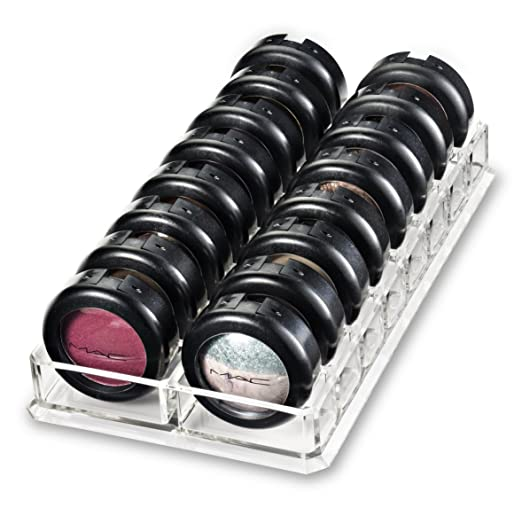Acrylic Eyeshadow Organizer & Beauty Care Holder Provides 16 Space Stoarge | byAlegory (Clear)