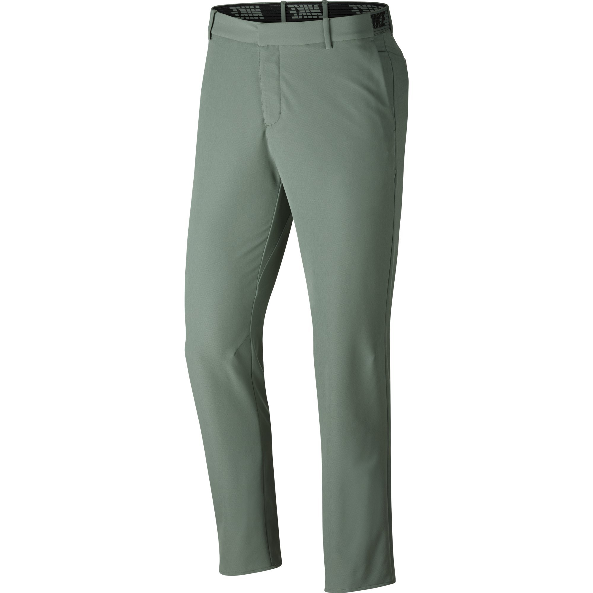 NIKE Men's Flex Slim Golf Pants, Clay Green/Black, Size 32/32