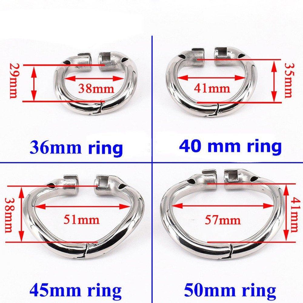 Male Chástíty Spike Cage with U-Rěthral Tube Stainless Steel Super Small Chástíty Děvices Short P-Ëňís Lock Ring (Red) by MoonPieee (Image #4)